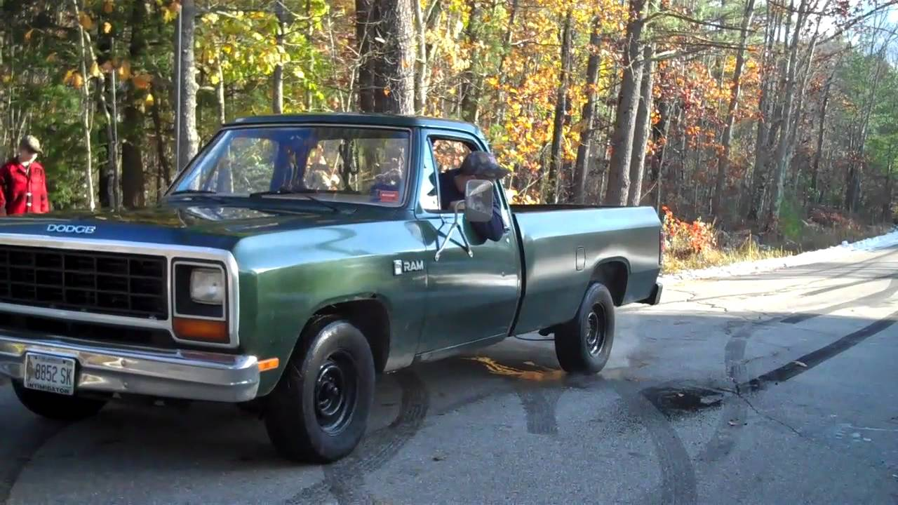 1985 Dodge Burnout - YouTube