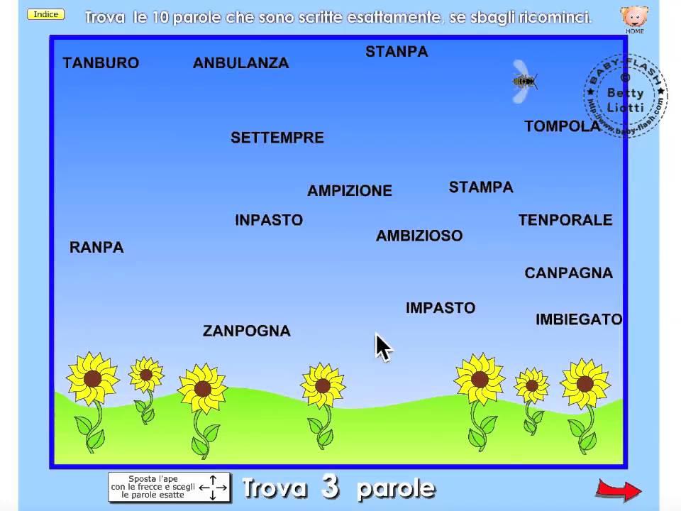 Italiano 22 esercizio con mb mp youtube for Baby flash italiano doppie
