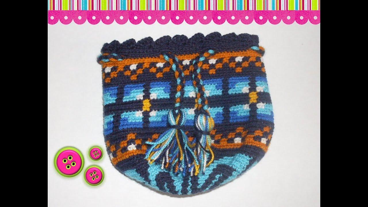 Como tejer una mochila Wayuu 2 - YouTube