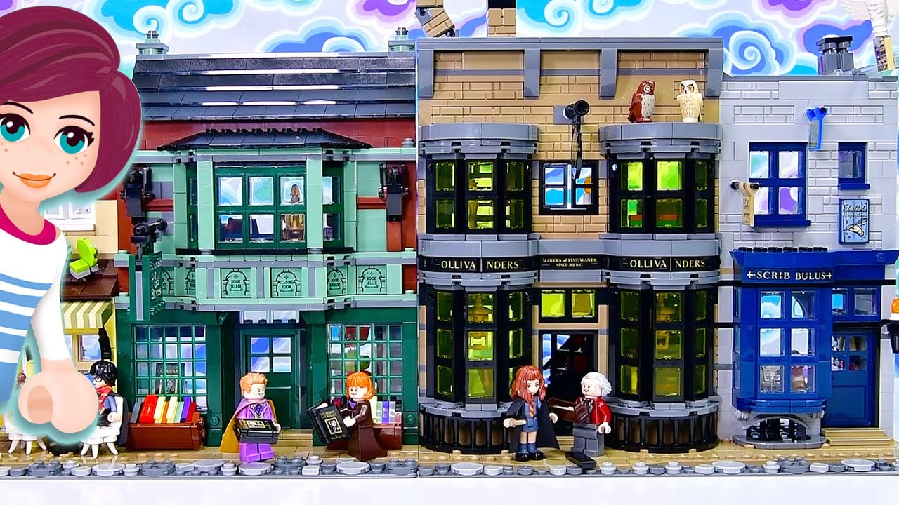 Ready to get your first wand? Building Ollivander's Wand Shop & Scribbulus - Lego Diagon Alley Pt 2