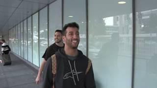 'F1 driver Daniel Ricciardo arrives in Melbourne for rd.1 of the Championship' #15MOF