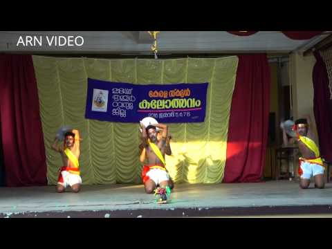 Parichamuttu Kali (പരിചമുട്ട്) at Thrissur District Kerala School Kalolsavam 2016