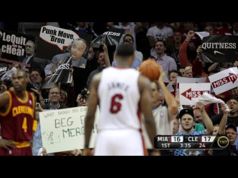 First Time LeBron Played in Cleveland, Scariest NBA Game of All Time!