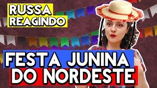 Baixar GRINGA EM CHOQUE COM FESTA JUNINA DO NORDESTE | GRINGA REAGINDO A COMIDA DE FESTA JUNINA | React