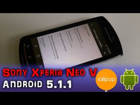 How To Install Android 5.1.1 Lollipop on Sony Xperia Neo V Jak zainstalować Android | PL | 4K |