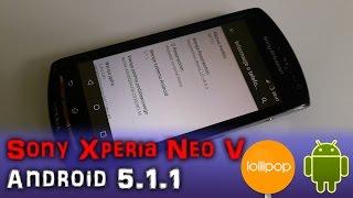 How To Install Android 5.1.1 Lollipop on Sony Xperia Neo V Jak zainstalować Android | PL | 4K |