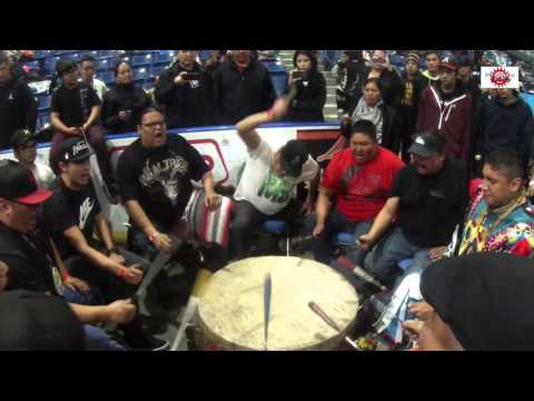 Wild Horse Singers Sing a Powerful Song at FSIN Powwow 2015