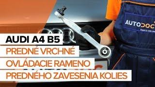 Údržba Audi A4 B8 - video návod