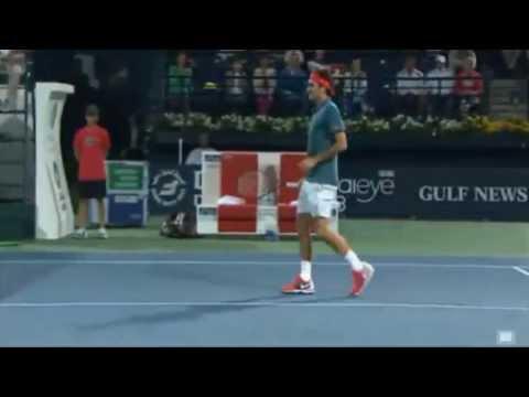 R.Federer Hot Dog - Vs Becker Dubai Open 2014