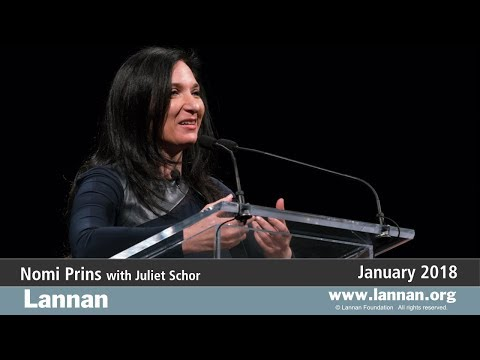 Nomi Prins with Juliet Schor, Talk, 24 January 2018