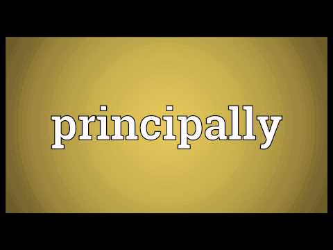 Header of principally