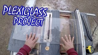 Fast Way To Cut And Polish Acrylic Plexiglass - Ticket Booth Facade