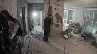 Ремонт квартиры 80м новостройка своими руками►# часть 5►Прокладка кабеля - Розетки