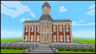 Minecraft: How to Build a Town Hall PART 4 Interior 1/2 YouTube
