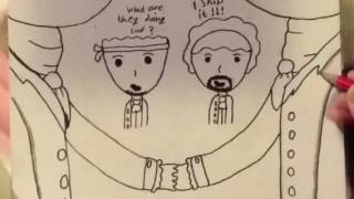 Drawing Hamilton and laurens ship