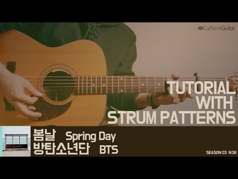[TUTORIAL] 봄날 Spring day - 방탄소년단 BTS | Guitar Cover, Lesson, Chord, Tab