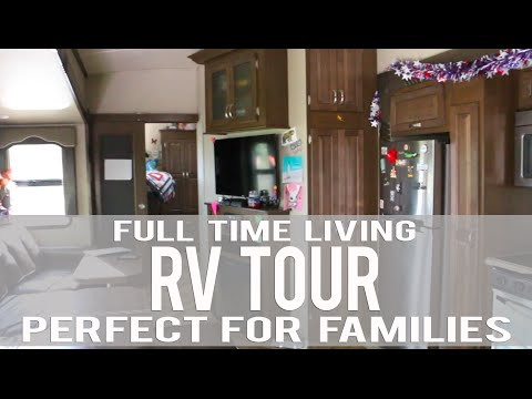 RV Tour for Families:  Awesome Bunk House:  Full-time Traveling Family