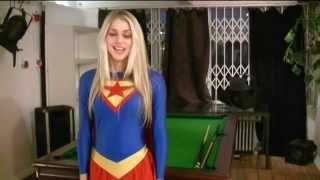 Nicole Neal in her Supergirl costume
