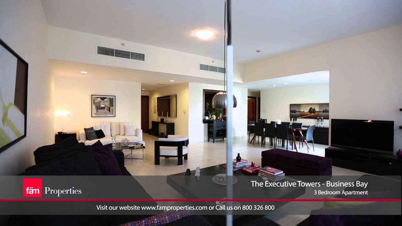 apartment 3 bedroom. Business Bay  The executive tower 3 Bedroom Apartment for Sale in Dubai YouTube