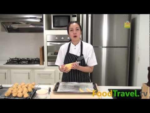 เอแคลร์ไส้ครีม (วิธีทำแป้งชูส์ Choux Dough)