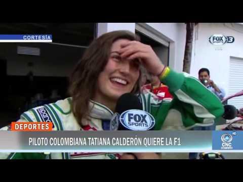 Piloto colombiana Tatiana Calderón quiere la F1