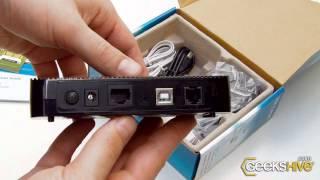 ADSL2+ Ethernet-USB Modem Router - TP-Link - Unboxing by www.geekshive.com