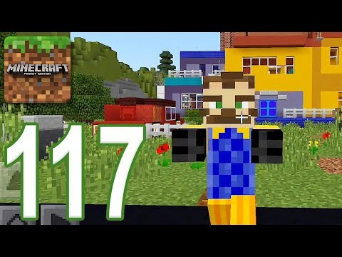 Minecraft: PE - Gameplay Walkthrough Part 117 - Hello Neighbor (iOS, Android)