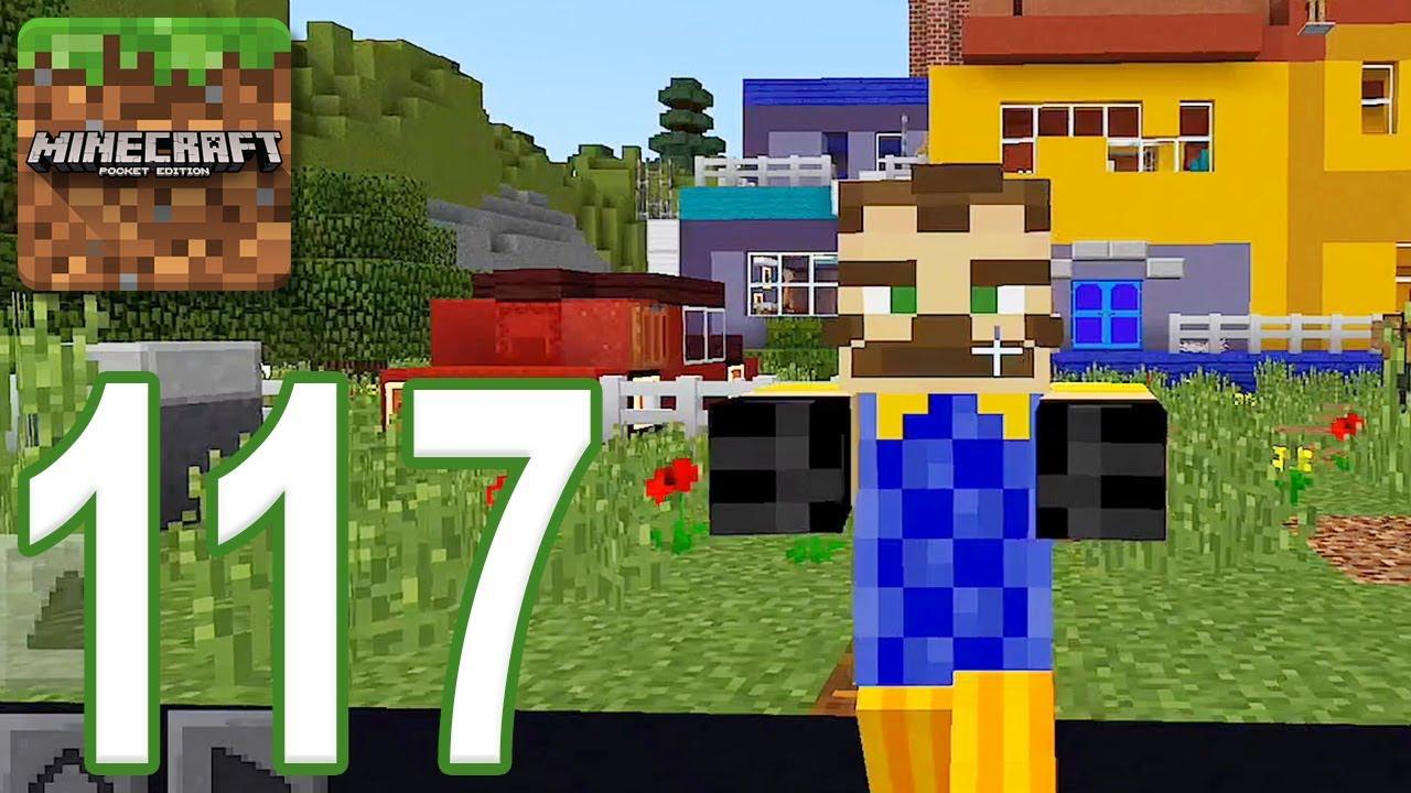 Minecraft Pe Gameplay Walkthrough Part 117 Hello Neighbor Ios Android Youtube