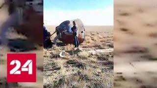 Смотреть видео Спасательная операция под Джезказганом. Видео - Россия 24 онлайн