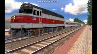OpenBVE HD EXCLUSIVE: Apple .Inc Train Preview EMD F40PH-2 Edition (Steve Jobs Train)