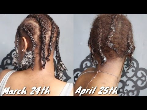 Taking Out 1 Month Old Cornrows Youtube