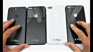 Unboxing iPhone 8 Plus Space Gray vs. iPhone 7 Plus Black and Jet Black