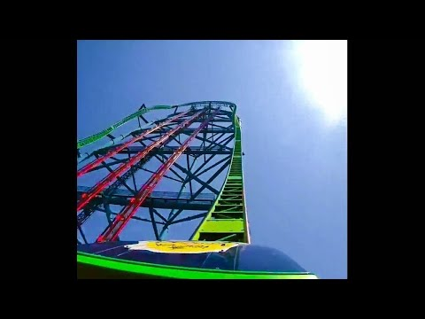 tall roller coaster breaks down at the worst time...