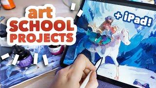 Art School Homework & How I use my iPad // Draw with me