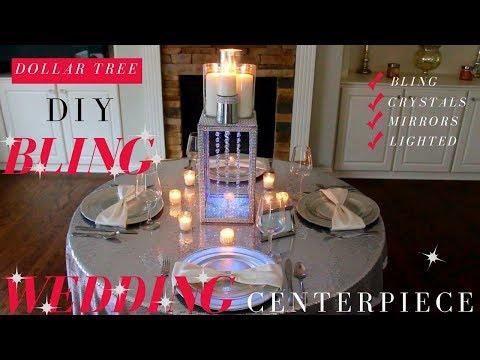 DIY BLING WEDDING CENTERPIECES | DOLLAR TREE BLING WEDDING
