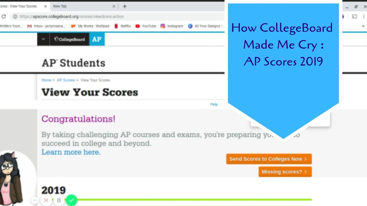 CollegeBoard Made Me Cry : AP Scores 2019