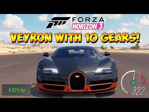 Forza Horizon 3 - Bugatti With 10 Gears! 5,000HP - Dev Mods