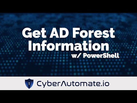 Create an HTML report of Active Directory Forest Information with