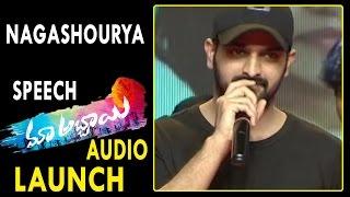 Nagashourya Speech at Maa Abbayi Movie Audio Launch || Sree Vishnu, Chitra Shukla