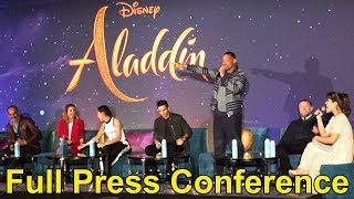 """Aladdin"" Press Conference with Will Smith, Alan Menken, Mena Massoud, Guy Ritchie +"