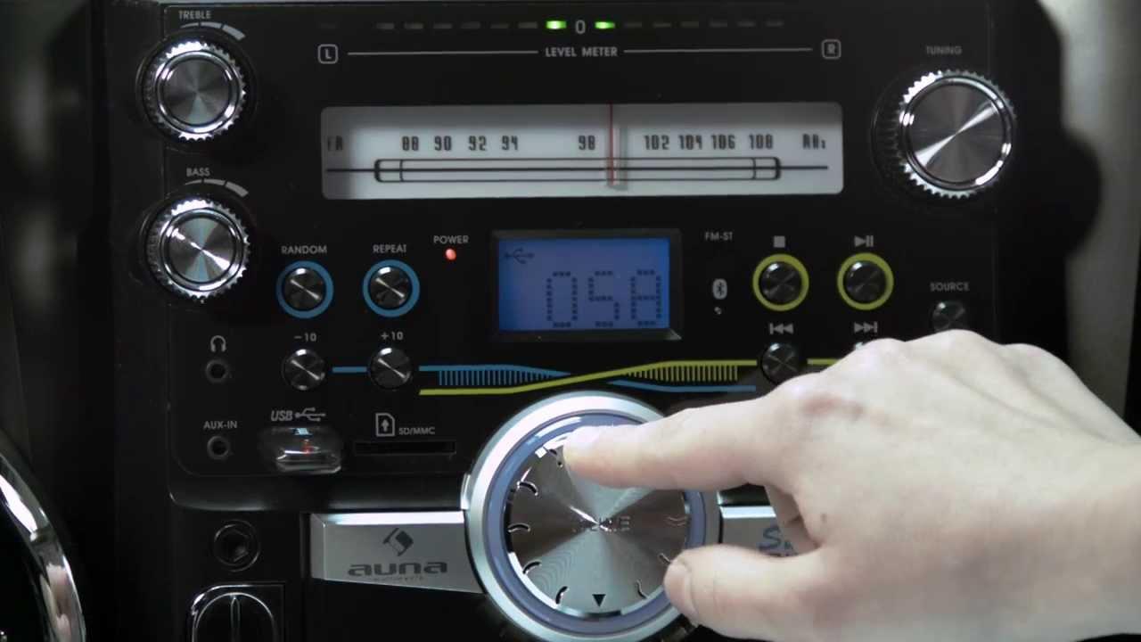 Auna NRG-180BT Ghettoblaster mit Bluetooth - YouTube