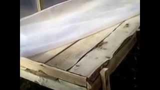 видео высота полок стеллажей в теплице