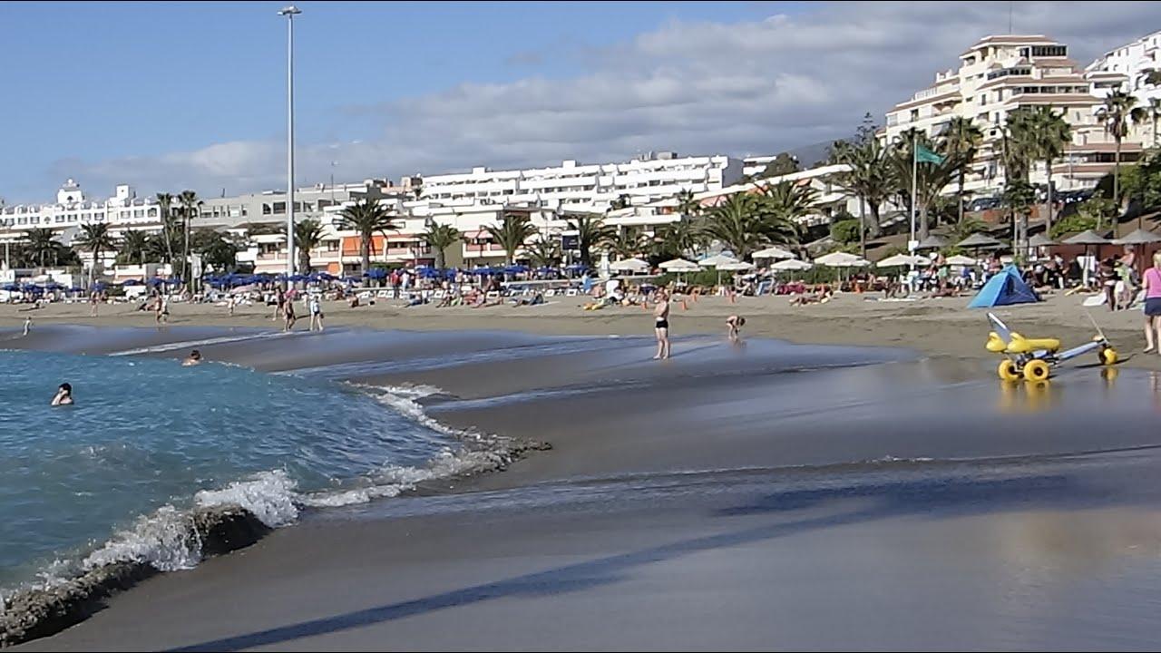 Playa de Las Vistas - perfect sand, best of Tenerife - YouTube