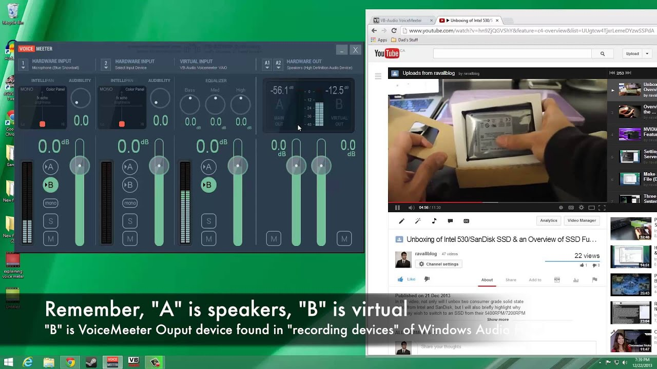 Using VoiceMeeter to Capture System Audio & Mic  Input Simultaneously  (Windows Tutorial)