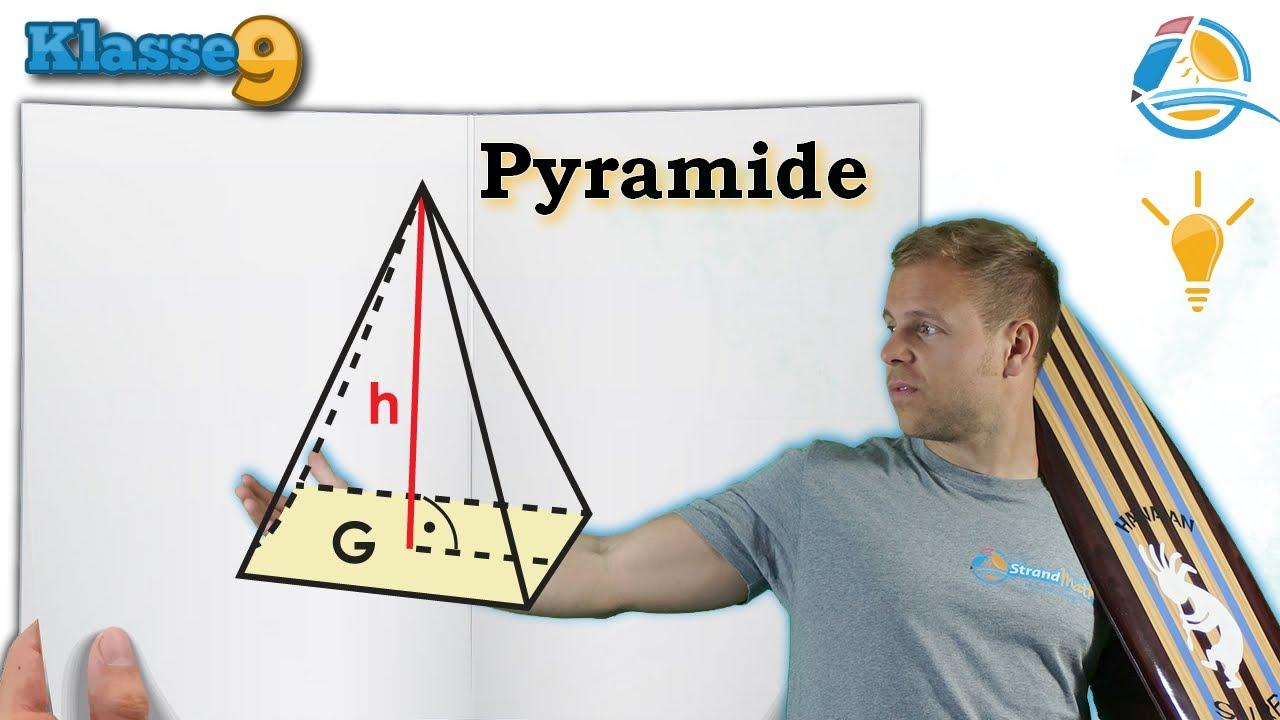 pyramide volumen oberfl che klasse 9 wissen youtube. Black Bedroom Furniture Sets. Home Design Ideas