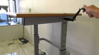 Classroom Height Adjustable Desk