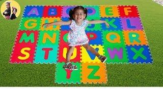 ABC SONG | ABBY learns English Alphabet with Nursery Rhyme Song