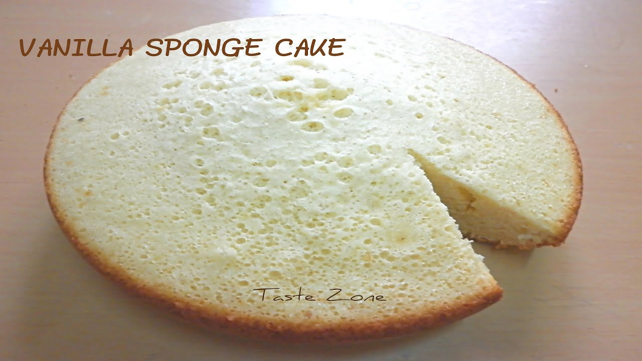 Vanilla sponge cake without oven - YouTube