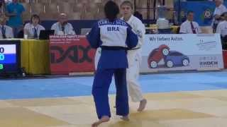 ECJ Berlin 2014  -48 kg Fight for Bronze Pashina (RUS) - Silva (BRA)