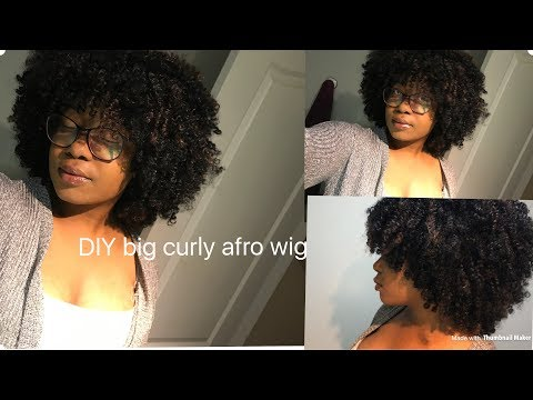 Back to school hairstyles, versatile BIG CURLY AFRO WIG || noble gold BOHEMIAN DORA (1B/30)